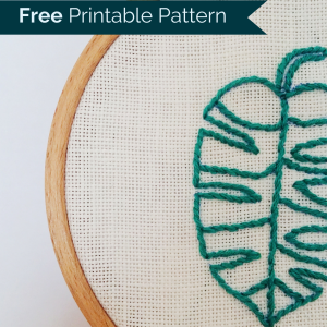 Free printable embroidery pattern - Embroidery Fever - close up